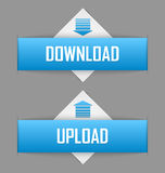 Download and upload buttons Royalty Free Stock Images