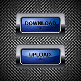 Download and upload buttons Royalty Free Stock Photography