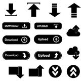 Download upload buttons icons set Stock Images
