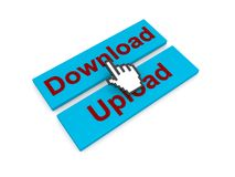 Download and upload buttons Stock Image