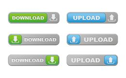 Download and upload buttons Royalty Free Stock Photos