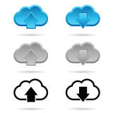 Download and upload icon illustration Royalty Free Stock Photography