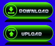 Download and upload icons. Stock Photography