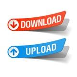 Download and upload labels. Illustration Stock Image