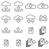 Download & Upload Line Icon Stock Photos