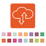 The download and upload to cloud icon Royalty Free Stock Photos