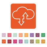 The download and upload to cloud icon Stock Photography