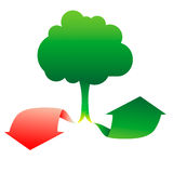 Download and upload tree network Stock Images