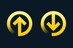 Download, upload vector symbols with arrow. Eps 10 file, easy to edit Royalty Free Stock Photo