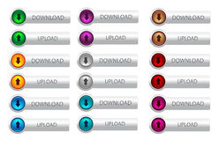 Download and upload web button Stock Images
