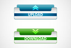 Download and upload  web icons, buttons. Design Royalty Free Stock Photos