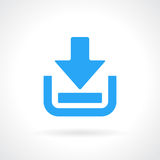 Download vector icon. Download blue arrow vector icon royalty free illustration