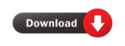DOWNLOAD web button with down arrow. DOWNLOAD vector web button with down arrow.  Black and red Royalty Free Stock Image
