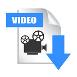 Download video. Icon isolated on white Stock Photo