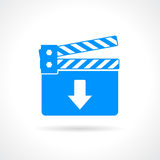 Download video icon. Download video vector icon illustration Royalty Free Stock Photography