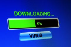 Download virus. Close up of Download virus royalty free stock images