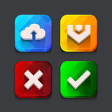 Download web icons collection Stock Photos
