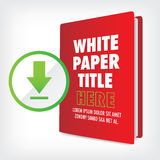 Download the Whitepaper or Ebook Graphic. With Replaceable Title, Cover, and CTAs with Call to Action Buttons Royalty Free Stock Photo