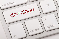 Download word on keyboard. Download word written on computer keyboard Royalty Free Stock Images