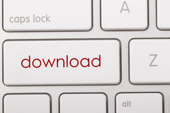 Download word on keyboard. Download word written on computer keyboard Stock Images