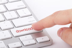 Download word on keyboard. Download word written on computer keyboard Stock Photography