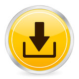 Download yellow circle icon Royalty Free Stock Photo