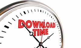 Download-Zeit-Internet-Geschwindigkeit erhalten on-line--Digital-Datei-Uhr 3d I Stockfoto