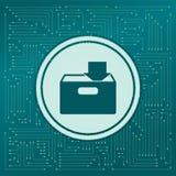 Download zu hdd Ikone auf einem grünen Hintergrund, mit Pfeilen in den verschiedenen Richtungen Es erscheint auf dem elektronisch lizenzfreie abbildung