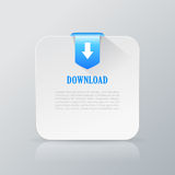 Downloaded file additional information card. Downloaded file additional information paper card Stock Photos