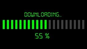 Downloadend vooruitgangsbar - digitale groen