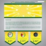 Downloader website template Stock Images