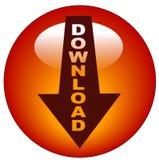 Downloadikone oder -taste Lizenzfreie Stockfotografie