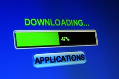 Downloading applications Royalty Free Stock Photos