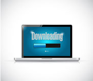 Downloading bar on a computer. illustration. Design over a white background Royalty Free Stock Images