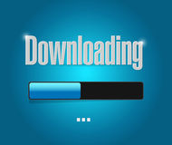Downloading bar illustration design Stock Photo