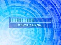 Downloading-Daten-Hintergrund Lizenzfreies Stockfoto