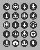 Downloading icons set Stock Image