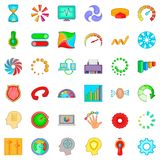Downloading icons set, cartoon style. Downloading icons set. Cartoon style of 36 downloading vector icons for web isolated on white background Stock Photography