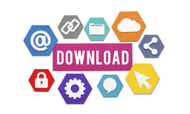 Downloading Loading Online Internet Concept Royalty Free Stock Photo