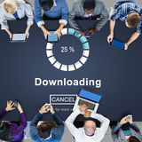 Downloading Online Website Technology Concept Royalty Free Stock Images