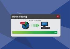 Downloading process screen. Flat design downloading process screen, Vector Illustration Stock Photography