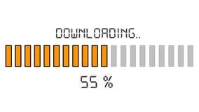 Downloading progress bar - digital orange Stock Images