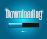 Downloading search bar illustration design. Over a white background Stock Image