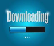 Downloading search bar illustration design Stock Image
