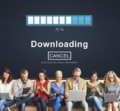 Downloading Transfering Network Information Technology Concept Stock Photo