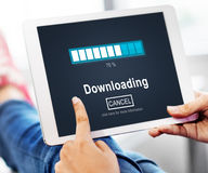 Downloading Transfering Network Information Technology Concept Royalty Free Stock Images