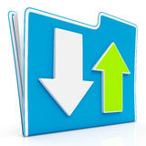 Downloading and Uploading Data Icon. Download And Upload Icon Shows Transferring File Data Royalty Free Stock Photo