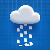 Downloading vom Wolkenspeicher Stockbilder