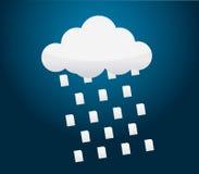 Downloading vom Wolkenspeicherprozeß Lizenzfreies Stockfoto