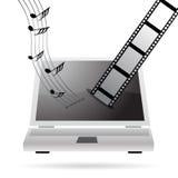 Downloadingmusik und -filme Lizenzfreies Stockbild